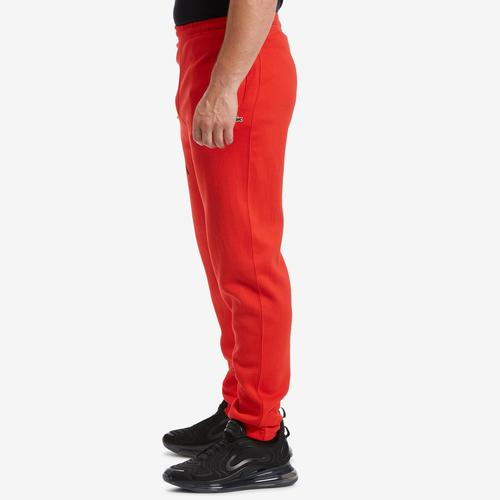 Left Side View of Lacoste Men's Unisex LIVE Signature Textured Fleece Sweatpants