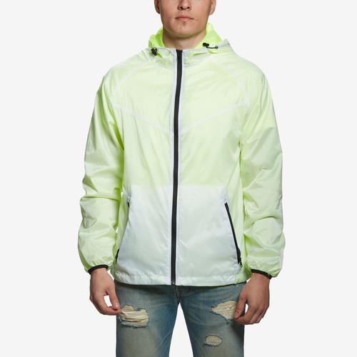 Front View of Bleeker & Mercer Men's Full Zip Hooded Jacket