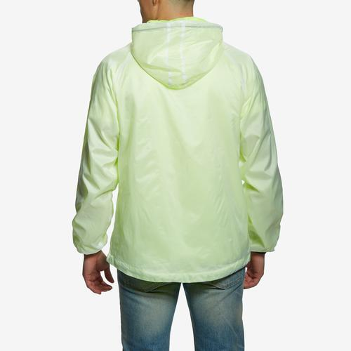 Back View of Bleeker & Mercer Men's Full Zip Hooded Jacket