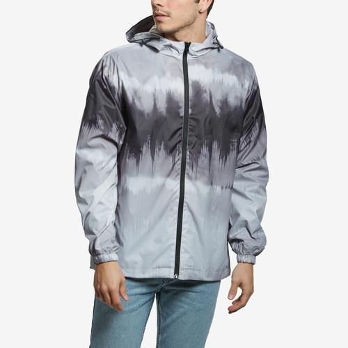 Front View of Bleeker & Mercer Men's Full Zip Hooded Jacket