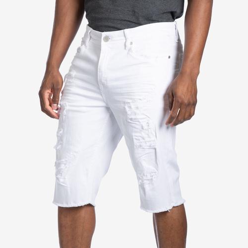 Front View of Jordan Craig Men's Desperado Distressed Denim Shorts