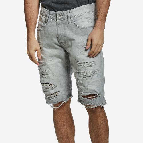Front View of Jordan Craig Men's Distressed Denim Shorts