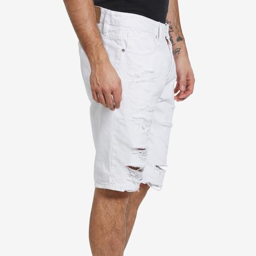 Left Side View of Jordan Craig Men's Belmar Denim Shorts