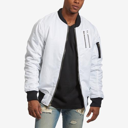 Front View of Bleeker & Mercer Men's Classic Bomber Jacket