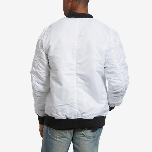 Back View of Bleeker & Mercer Men's Classic Bomber Jacket