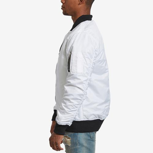 Left Side View of Bleeker & Mercer Men's Classic Bomber Jacket