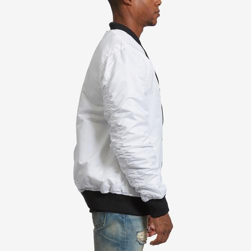 Right Side View of Bleeker & Mercer Men's Classic Bomber Jacket