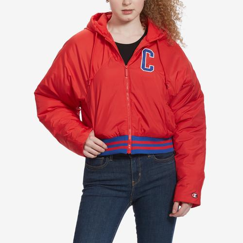 Front View of Champion Women's Life Filled Fashion Jacket With Block Logo