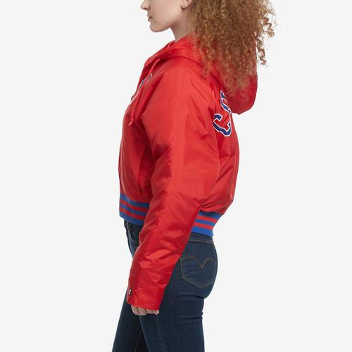 Left Side View of Champion Women's Life Filled Fashion Jacket With Block Logo
