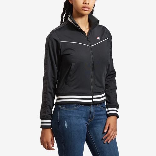Front View of Champion Women's Life Tricot Track Jacket