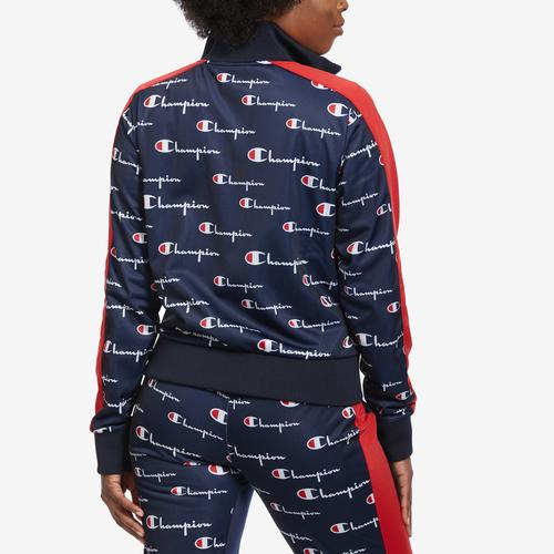 Champion Tricot Track Jacket, All Over Print