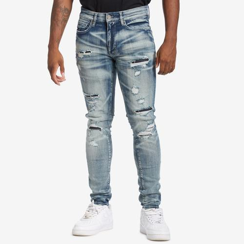 Front View of Jordan Craig Men's Sean-Reno Denim