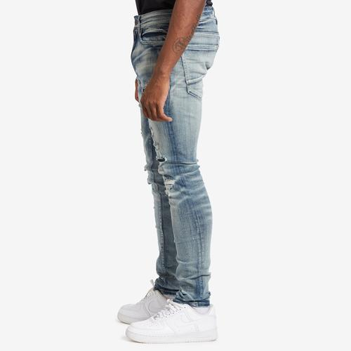 Left Side View of Jordan Craig Men's Sean-Reno Denim