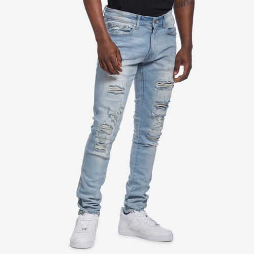 Front View of Jordan Craig Men's Sean-Crushed Denim