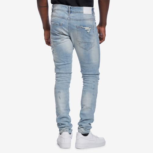 Back View of Jordan Craig Men's Sean-Crushed Denim