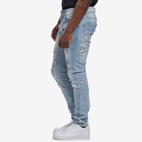 Left Side View of Jordan Craig Men's Sean-Crushed Denim