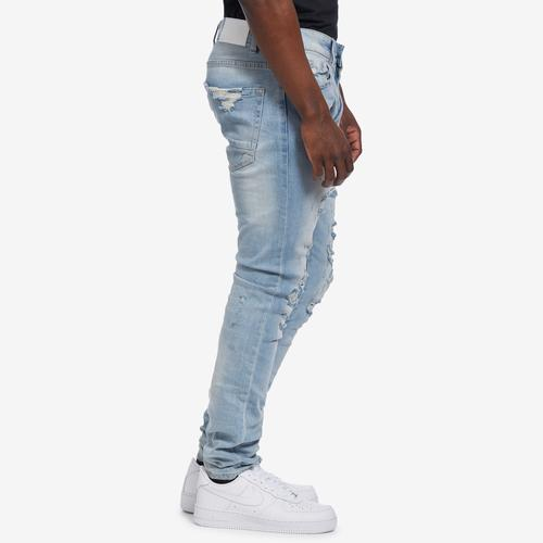 Right Side View of Jordan Craig Men's Sean-Crushed Denim
