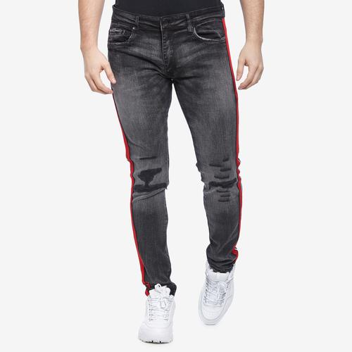 Back View of Jordan Craig Men's Sean- Sugar Hill Striped Denim