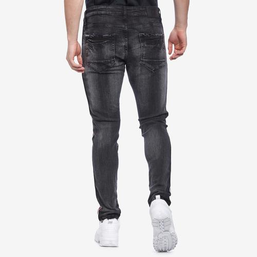 Right Side View of Jordan Craig Men's Sean- Sugar Hill Striped Denim