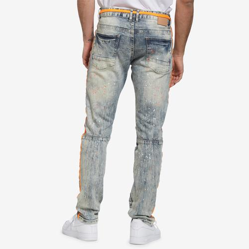 Smoke Rise Men's Jeans With Stripes