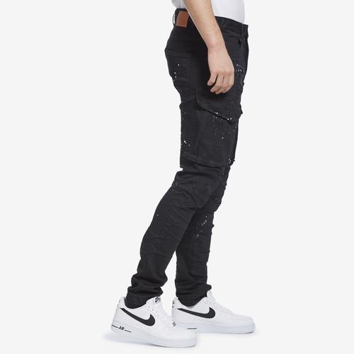 Left Side View of Smoke Rise Men's Fashion Twill Cargo Pants
