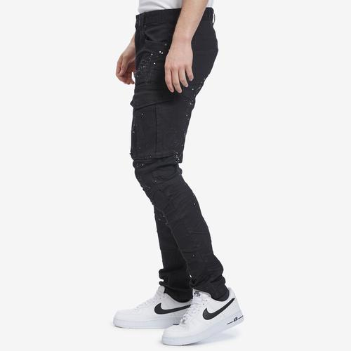 Right Side View of Smoke Rise Men's Fashion Twill Cargo Pants