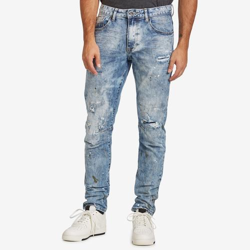 Front View of Smoke Rise Men's 5 Pocket Relaxed Tapered Jeans
