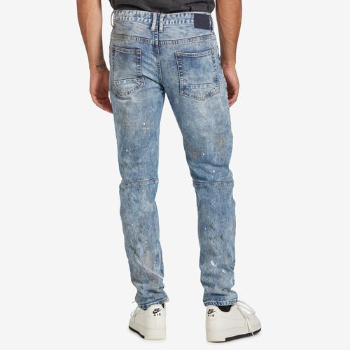 Back View of Smoke Rise Men's 5 Pocket Relaxed Tapered Jeans