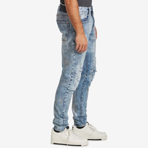 Right Side View of Smoke Rise Men's 5 Pocket Relaxed Tapered Jeans