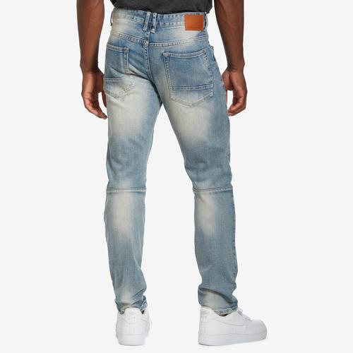 Smoke Rise Men's 5 Pocket Ripped And Torn Relaxed Tapered Jeans