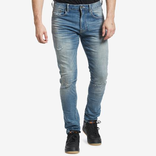 Front View of Smoke Rise Men's Distressed Jeans
