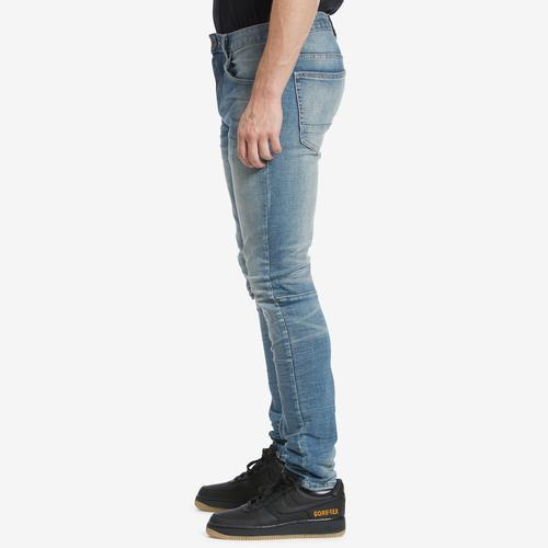 Left Side View of Smoke Rise Men's Distressed Jeans