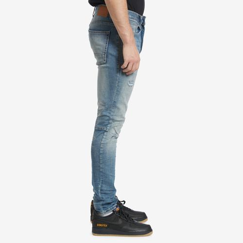 Right Side View of Smoke Rise Men's Distressed Jeans