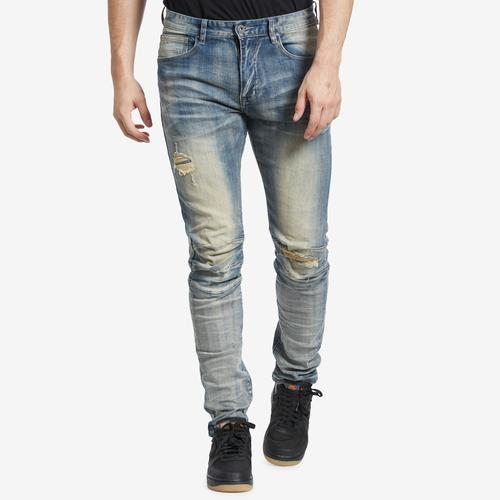 Front View of Smoke Rise Men's 3D Knee Jeans