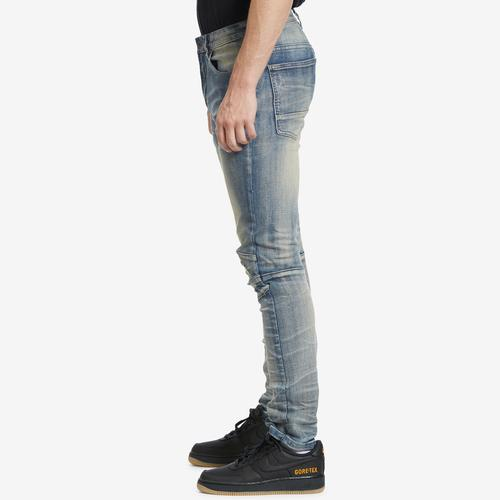 Left Side View of Smoke Rise Men's 3D Knee Jeans
