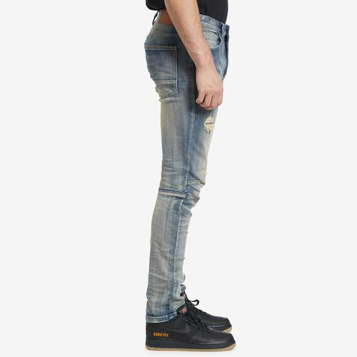 Right Side View of Smoke Rise Men's 3D Knee Jeans