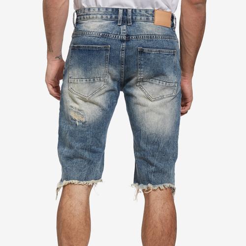 Smoke Rise Men's Basic Rip Off Denim Shorts