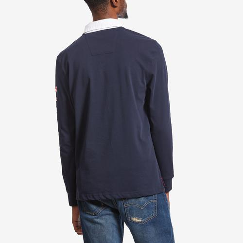 Nautica Men's Nautica Long Sleeve Arm Logo Rugby