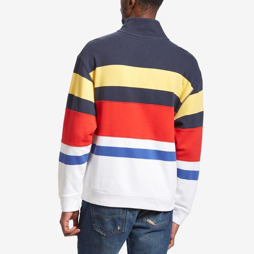 Nautica Men's French Terry Stripe Pullover
