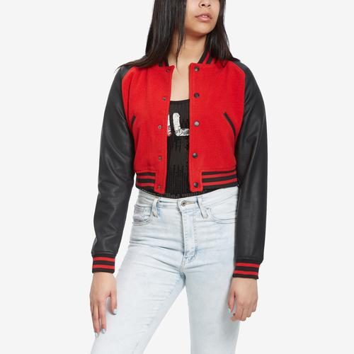 Front View of FILA Women's Rosalie Cropped Jacket