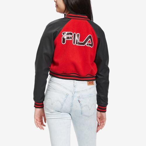 Back View of FILA Women's Rosalie Cropped Jacket