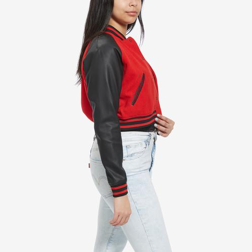 Left Side View of FILA Women's Rosalie Cropped Jacket