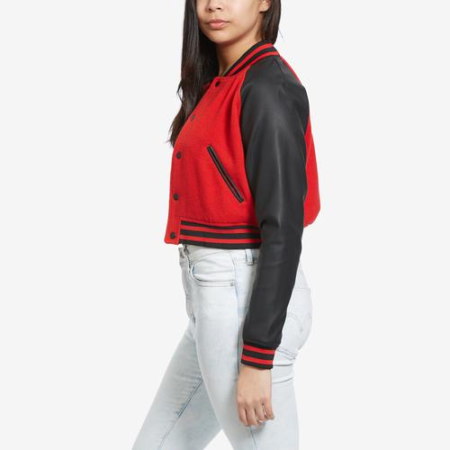 Right Side View of FILA Women's Rosalie Cropped Jacket