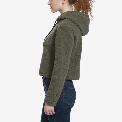 Left Side View of FILA Women's Ember Crop Hoodie