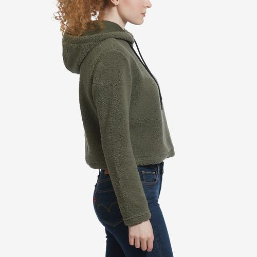 Right Side View of FILA Women's Ember Crop Hoodie