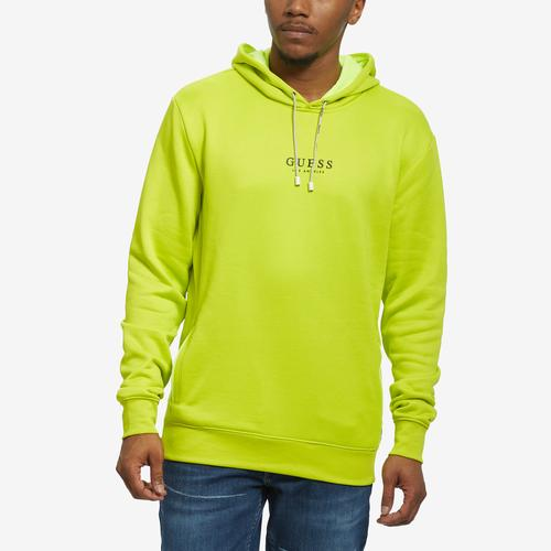 Front View of Guess Men's Sid Athletic Logo Hoodie