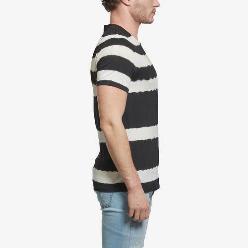 Left Side View of Guess Men's Tie-Dye Embroidered Logo Tee