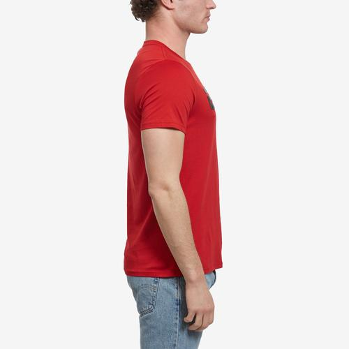 Left Side View of Guess Men's Racer Logo Crewneck Tee