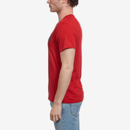 Right Side View of Guess Men's Racer Logo Crewneck Tee