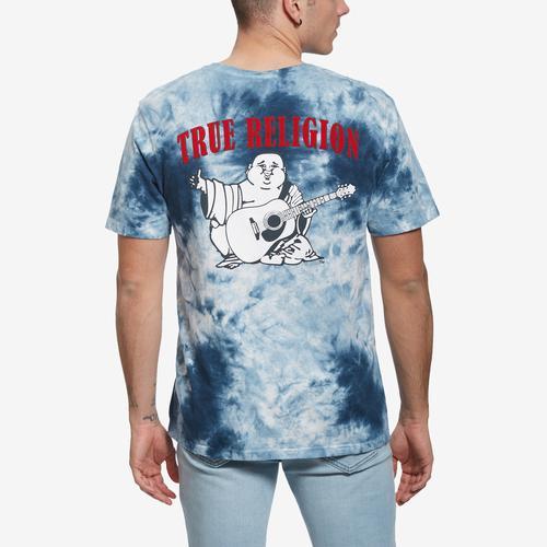 True Religion Men's Felt Buddha LogoTee